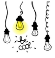 lightbulb icon with concept of idea Doodle vector image