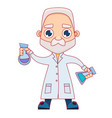 old male scientist vector image