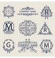 Set ornamental emblems company logos vector image