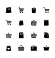 shopping bags - flat icons vector image