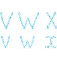 VWX letters vector image