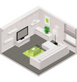 isometric living room icon vector image vector image