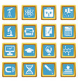 education icons azure vector image vector image