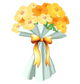 A boquet of flowers with a ribbon vector image vector image