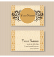 vintage business card yellow vector image vector image