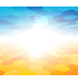 Nature summer view background vector image