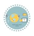Satellite Global Network Provider Icon Flat vector image