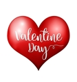 Valentine day heart vector image