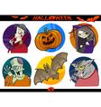 Halloween Cartoon Themes Set vector image vector image