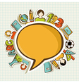Back to school colorful education icons vector image