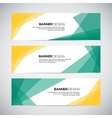 Banners with the abstract colorful geometric vector image