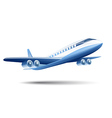 blue airplane on a white background vector image