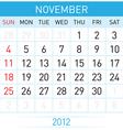 november calendar vector image
