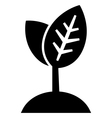 Plant growth icon vector image