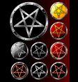 set of pentagrams vector image