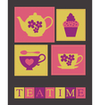 Teatime card vector image