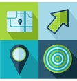 travel set icons vector image