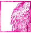 watercolor animal background in pink color wing of vector image
