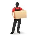 Delivery service man postman vector image vector image