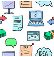 business object various doodles vector image