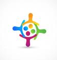 Teamwork hug together logo vector image vector image