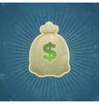 Retro Bag of Money vector image