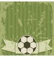 Football grunge greeting card vector image