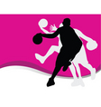basketball silhouette vector image vector image