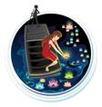 Spirit Festival Floating River Lanterns vector image