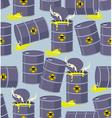 Dump toxic waste barrels Seamless pattern dump vector image
