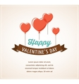 Valentines day greeting card and poster vector image