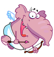 Pink Pachyderm Cupid vector image