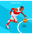Basketball 2016 Summer Games Isometric 3D vector image vector image