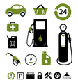 Gasoline station icons set vector image vector image