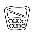 calculator class supplies school outline vector image