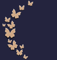 Holiday card with carton paper butterflies vector image