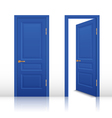 House Open And Closed Door Set vector image