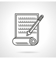 Manuscript icon flat line icon vector image