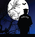 policeman on the moonlight vector image