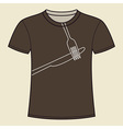 Print of knife and fork T-shirt template vector image