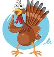 Scared Turkey Funny Cartoon vector image