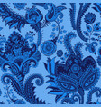 Seamless pattern indian floral backdrop vector image