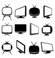 tv icons and signs set vector image