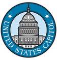 United States Capitol badge vector image vector image