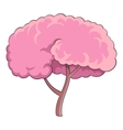 Sakura tree icon cartoon style vector image