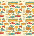 seamless transport colored pattern vector image