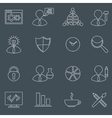 SEO icons set outline vector image vector image