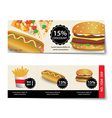 fast food coupon discount template design vector image