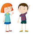 Girl and boy chatting vector image