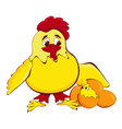 chicken mother vector image vector image